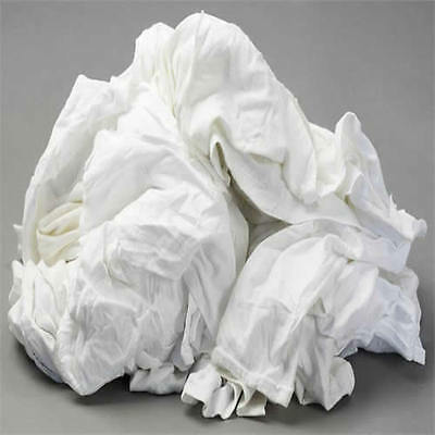 WHITE KNIT T-SHIRT WIPING RAGS CLEANING CLOTH 50 lb BOX - BEST QUALITY & (Best White Tee Shirts)