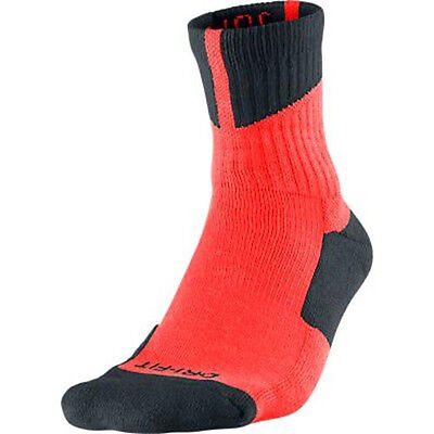 Dri-fit Quarter Socken (Nike Air Jordan Dri - Fit High-Quarter Total Crimson / Schwarz 573788-810 Größe)