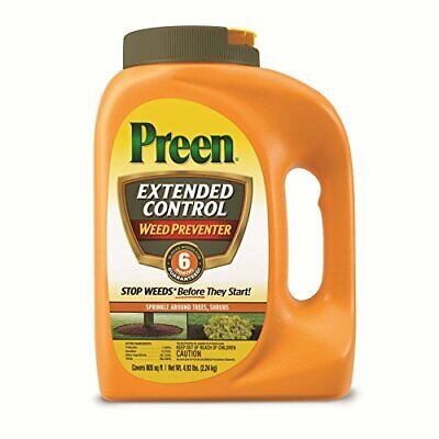 Preen Extended Control Weed Preventer, 4.93 lb, Covers 805 sq. ft. FREE2DAYSHIP