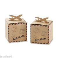10 Scatole Per Confetti Aereo Air Mail Tema Viaggio W 600 -  - ebay.it