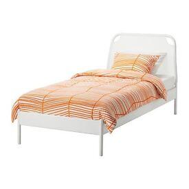Ikea Duken Single White Bed + mattress £90 each (Original RRP £200) - I sell 2 together for £170!