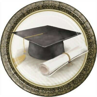Classic Graduation 9 Inch Paper Plates 8 Pack Graduation Party Decoration](Graduation Plates)