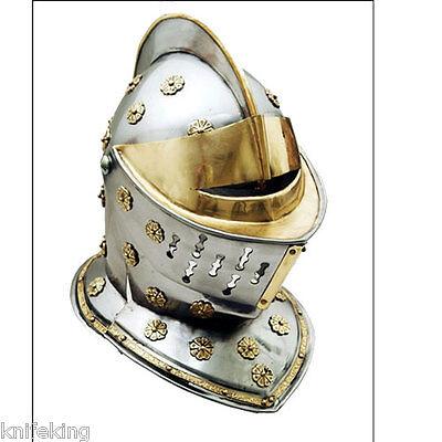 Medieval Knights Helmet - Golden (HM-0899) (Knight Helmets)