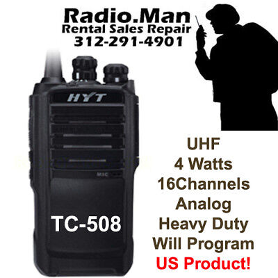 Hyt Tc-508 Uhf 450-470 Mhz 4 Watt 16ch Portable Radio Will Program Vx261 Cp200