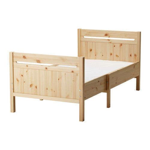 ikea trofast extendable solid wood bed frame, toddler bed, junior ...