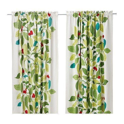 ikea green curtains ebay. Black Bedroom Furniture Sets. Home Design Ideas