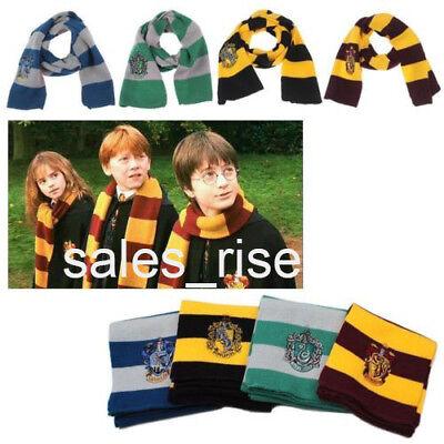 Harry Potter Scarf Gryffindor (Harry Potter Cosplay Scarf Hat Tie Gryffindor Slytherin Hufflepuff Ravenclaw)