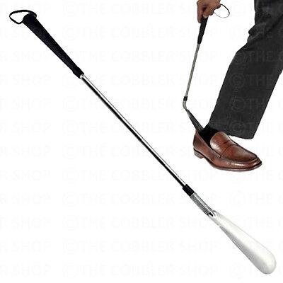 - Premium Long-Handle JOCKEY Shoe Horn-Flexible End for Easy Use-Stainless Steel