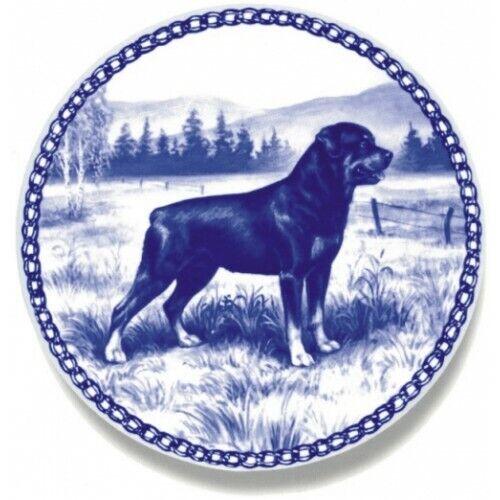 Rottweiler Ceramic Plate #7195