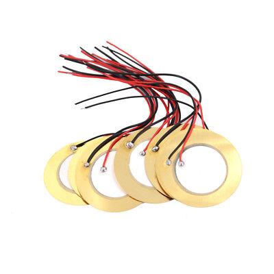 10pcs 35mm Piezo Elements Buzzer Sounder Sensor Trigger Drum Disc Wire Copper J