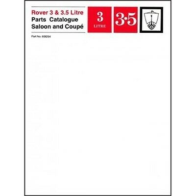 Rover 3 & 3.5 Litre Saloon & Coupe Parts Catalogue P5 book paper car