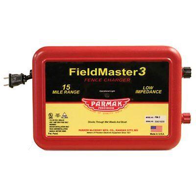 Parmak Fieldmaster 2 Low Impedance 110120 Volt 15 Mile Range Electric Fence Cha