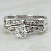 White Gold CZ Wedding Set