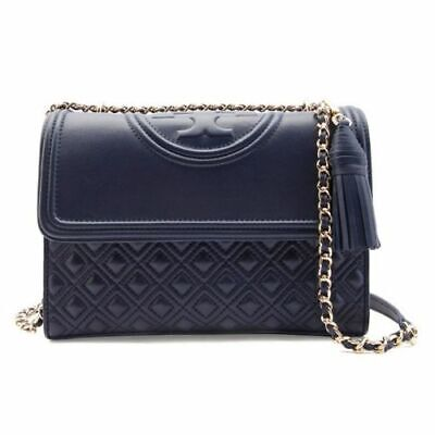 TORY BURCH Large Fleming Convertible Shoulder Bag NWT navy blue sales Authentic (Tory Burch Sale Bag)