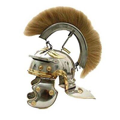 Roman Centurion Helmet Full Size Medieval Historical Ancient Greek Warrior Helm ()