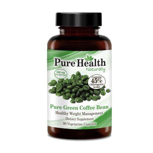 Pure health naturally green coffee bean