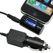 FM Transmitter Car Charger Remote for iPhone 4 3GS iPod