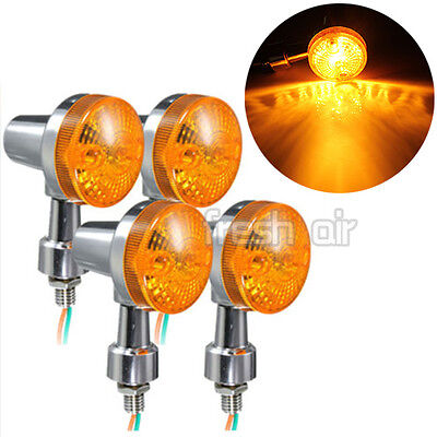 4x Universal Motorcycle Motorbike Turn Signal Indicator Turning Light Bulb Amber