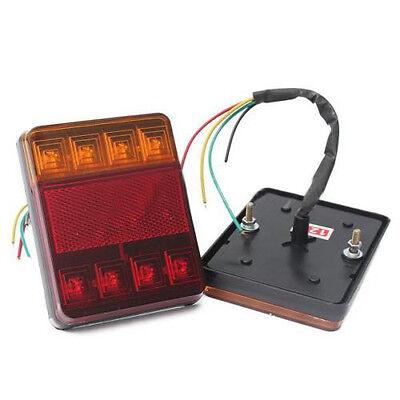 2PCS 12V LED Feux Indicateur Lampe Arrière Queue Arrêt Remorque Caravane Camion