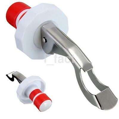 Home Stainless Steel Reusable Vacuum Sealed Red Wine Bottle Stopper Plug CA
