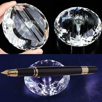 Cut Crystal Desk Stand Penholder Holder For Antique Vintage Collectible Pen