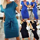 Short Sleeve Solid Dresses for Women's Maxi Dresses