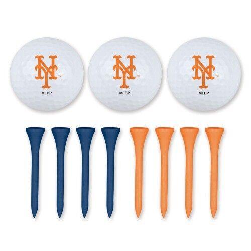 Brand New MLB  New York Mets Golf Ball & Tee Set Team Logo M