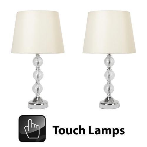 3fc927c43cf6 Crackle Glass Table Lamp | eBay