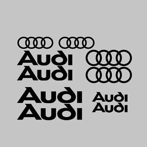 10x-Audi-Car-Vehicle-Vinyl-Stickers-Decal-Graphics-Kit-Rings-Logo