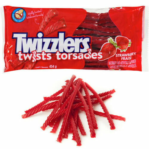 6 PACK Twizzlers TWISTS Strawberry Candy 454g Each - Canada FRESH & DELICIOUS!