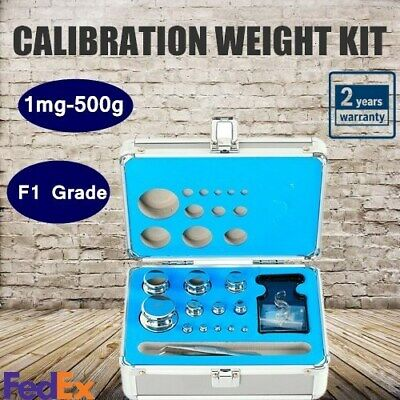 Precision Stainless Steel Balance Scale Calibration Weight Kit Set F1 1mg500g