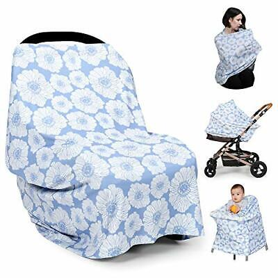 TILLYOU Stretchy Jersey Knit Car Seat Cover Canopy for BabyBoys Girls All-in...