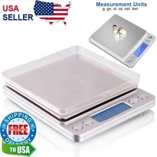 Digital Scale 2000g x 0.1g Jewelry Gold Silver Coin Gram Pocket Size Grain Jewelry & Watches