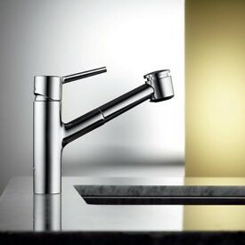 Stainless Steel kitchen tap w pull out spout by KWC Luna, Very High Quality !