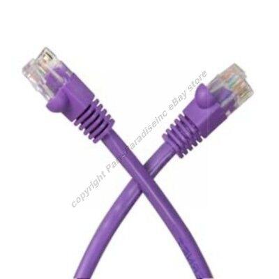 Lot2 7ft RJ45Cat5e Ethernet Cable/Cord $SH DISC{PURPLE{F