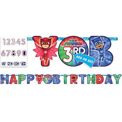 PJ MASKS JUMBO LETTER BANNER KIT ~ Birthday Party Supplies Hanging Decoration - Jumbo Party