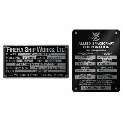 Serenity Firefly Builder's Plaques Metalized Sticker Set