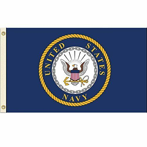 United States Navy Flag USN Emblem Banner US Military Pennan