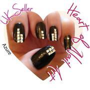 Gold Nail Art Studs