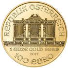Uncertified Austrian Philharmonic 2017 Gold Bullion Coins