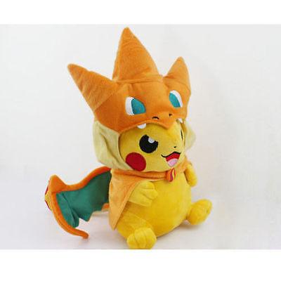 u mit Charizard Hut Plüsch Stofftier Spielzeug (Plüsch Elf)