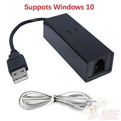 USB 56K External Dial Up Voice Fax Data Modem Windows 10 / 8 / 7 / XP / Vista Usb Modems Vista