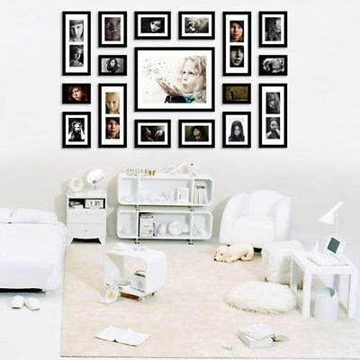 FA 17 Pieces Easy Wood Family Multi Photo Picture Frame Wall Hang Home Decor