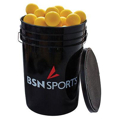 BSN SPORTS Bucket with Lacrosse Balls - Yellow