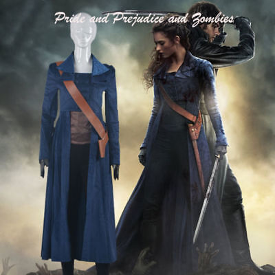 Pride and Prejudice and Zombies Elizabeth Bennet Cosplay coat + Shoulder Strap#5](Pride And Prejudice And Zombies Costume)