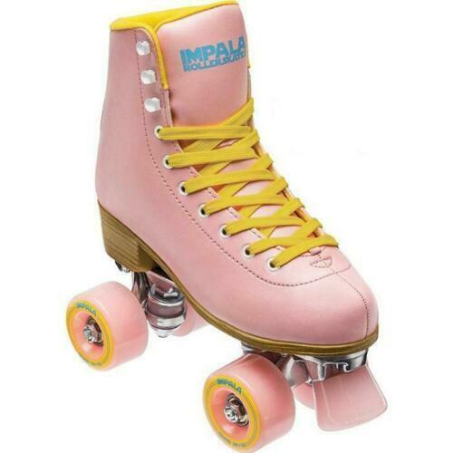 Impala Sidewalk Quad/Roller Skate Pink/Yellow-WOMEN 8