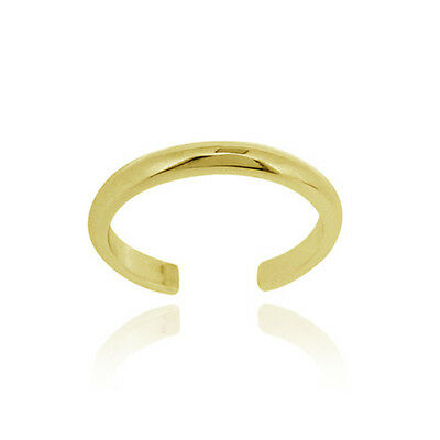 18K Gold over Sterling Silver Polished Toe Ring