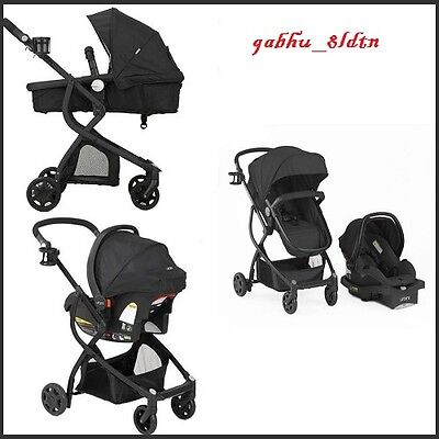 Baby Stroller Car Seat 3in1 Travel System Infant Carriage Buggy Bassinet Black