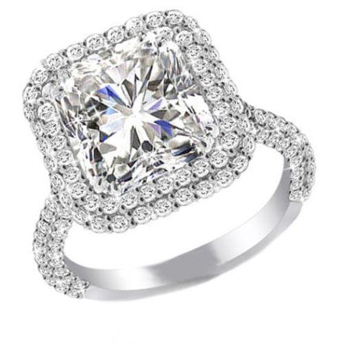 Double Halo Engagement Ring Ebay