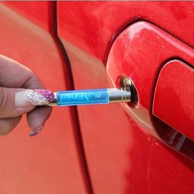 Car Electrostatic Eliminator Static Device Keyring Clear Anti-Static Key chain E